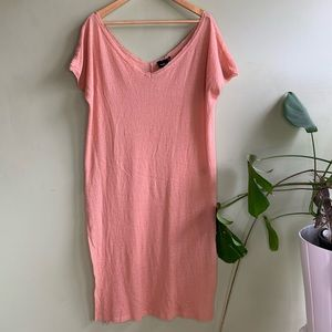 NWOT UO Out From Under Peach Crepe Slit Tunic L